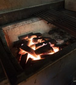 Close up of BBQ Charcoal grill in a restaurant